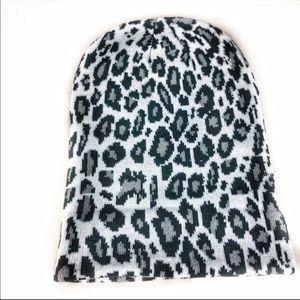 NEW-Animal Print Knitted Warm DoubleLayered Beanie
